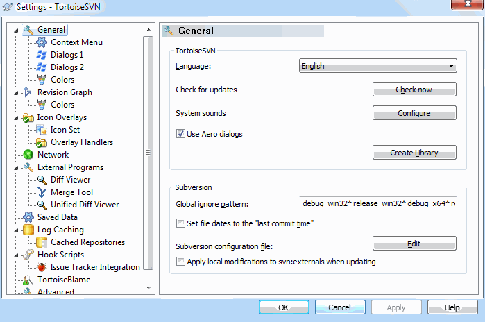 TortoiseSVN's Settings | TortoiseSVN A Subversion client for